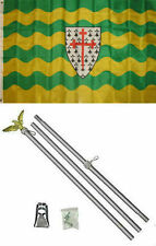 3x5 Donegal Ireland Irish Flag Aluminum Pole Kit Set 3'x5'