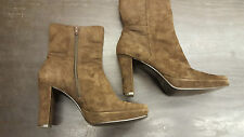 NINE WEST LIGHT BROWN SUEDE LEATHER ANKLE BOOTS UK SIZE 7