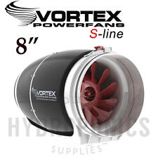 "Vortex S-Line Ultra Quiet Duct Inline Fan 8"" inch 711 CFM for Grow Rooms 2017"