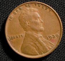1939 Philadelphia Mint Lincoln Wheat Cent Penny High Grade Coin