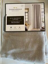 """Threshold Linen Aruba 99.9% Blackout ONE Panel Curtain Seagull 95""""×50"""""""