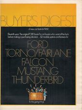 Ford 1969 USA Market Brochure Falcon Mustang Torino Fairlane Galaxie Thunderbird