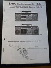 Original Service Manual  SABA RCP 530 730