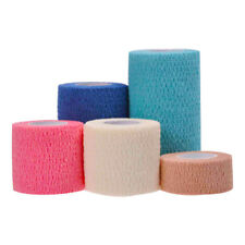 Cotton Self Adhering First Aid Bandage Wrap Elastic Sport Tape Multi-Size