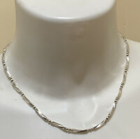 """Sterling Silver - ITALY 3mm Twisted Ball Bead Chain Link 18"""" Necklace"""