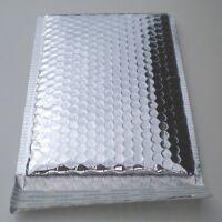 10pk #0 Metallic Silver Bubble Mailers  ID: 6.25 X 9.25 OD: 7.25 x 9.25 Padded