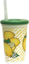 100 ct 16oz LEMONADE CUPS W/ LIDS & STRAWS *Souvenir*- Party, Festival, Carnival
