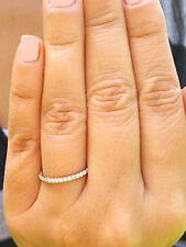 18k White Gold Round Cut Channel Diamonds Band Anniversary Half Eternity 0.30ctw