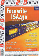 FOCUSRITE ISA430 / APOLLO FOUR FORTY	Sound on Sound	Nov	1999