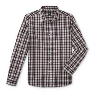 **NEW** Route 66 Men's Button-Front Red Plaid Long Sleeve Shirt - Size: S Small