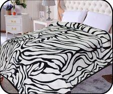 Hiyoko Zebra Animal Mink Blanket Throw Bedspread Comforter Coverlet 90x75