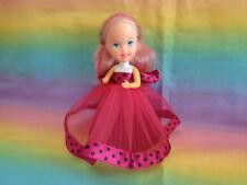Collectible Estrela Braziliera Mauve Dress Rubber & Fabric Skirt Doll
