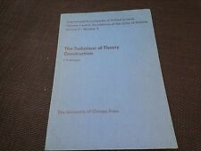 The Technique of Theory Construction by J. H. Woodger Second Impression 1947