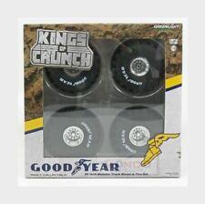 "Greenlight 13547 King of Crunch 66"" GOODYEAR Monster Truck Wheel & Tire Set 1 18"