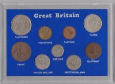 More details for cased 1949 george vi set of 9 coins in very fine or better condition