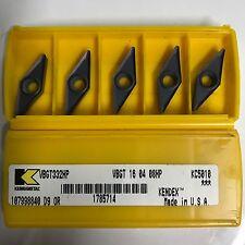 10PCS of VBGT 16 04 08 HP KC5010 (VBGT332HP) KENNAMETAL CARBIDE INSERTS