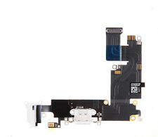 White audio charger charging port mic flex cable iphone 6 Plus Replacement Part