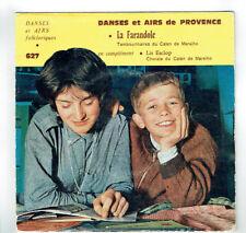 LA FARANDOLE -LIS ESCLOP Vinyle 45T EP POGGIO Tambourin Folklorique CEL 627 RARE