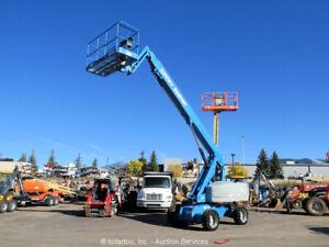 2013 Genie S-65 65' 4WD Diesel Telescopic Boom Lift Aerial Platform Jib bidadoo