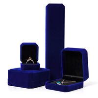 Samt Halskette Display Box Ring Armband Aufbewahrungskoffer Charm Schmuck Ge WJ