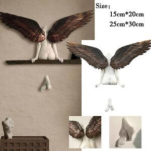 3D Angel Art Sculpture Wall Decoration Hanging Statue for Living Room Bedroom