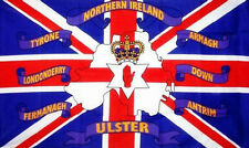 Northern Ireland 6 Counties Flag 5' X 3' Irish Red Hand Ulster Union Jack