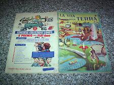 ALBUM LA VITA SULLA TERRA LAMPO 1957 CON 12 FIGURINE NO PANINI EDIS RELI MIRA