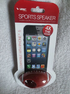 VIBE Football Sport Speaker 4x The Sound Compatible With Iphone 5 New