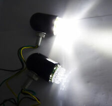 Aluminium Motorcycle White Fog Lights 2x ATV Dirtbike Bullet 12V LED Lights