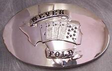 Pewter Belt Buckle Gamble Poker Texas Hold 'Em NEW