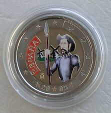 2 Euro Spanien 2005 Don Quichote in Farbe unz