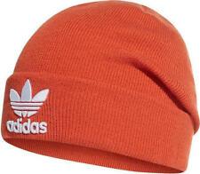 Adidas Originals Men's Trefoil Logo Beanie Orange Hat Headwear Cap Winter New
