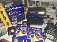 Polaroid Camera +Film N Ew ICONIC BLUE FASCIA Retro 80s 🤩 Fun Todayx