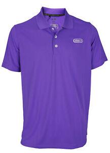 Adidas Mens ClimaLite Pique Blocked Polo Shirts, Purple