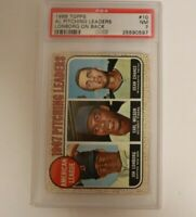 1968 Topps AL Pitching Leaders Lonborg On Back #10 PSA 7