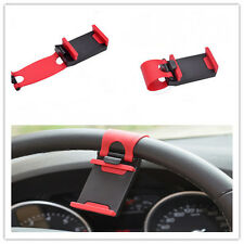 1x Cell Phone Holder Mount Clip Buckle Socket Hands Free On Car Steering Wheel#