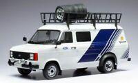 Model Car Scale 1:18 Ixo Transit Mk II 2 Team Ford diecast Van New