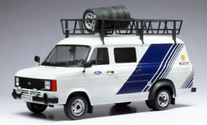 Model Car Scale 1:18 Ixo Transit Mk II 2 Team Ford diecast Van New