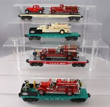 K-Line O Scale Flatcars with Classic Fire Engines [4]