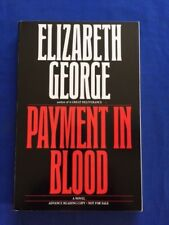 PAYMENT IN BLOOD - ADVANCE READING COPY SIGNED BY ELIZABETH GEORGE