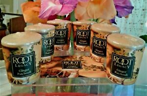 6x ROOT Legacy Votive Candles GINGER PATCHOULI, 20-Hour, Strong Scent, NOS