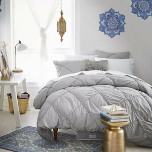 NWT Pottery Barn Diamond Ruched Duvet and Sham (Twin) (light gray) $89