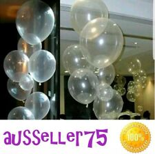 50x 10 inch clear transparent balloons birthdays wedding celebration decoration