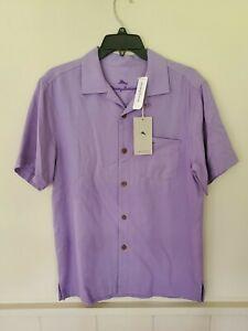 "Tommy Bahama ROYAL BERMUDA ""SPRING LAVENDER"" ISLANDZONE silk blend shirt"