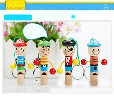 Children Kids Wooden Whistle Pirate Toy Musical Gift
