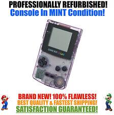 *NEW GLASS SCREEN* Nintendo Game Boy Color GBC Atomic Purple System MINT NEW