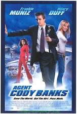 AGENT CODY BANKS MOVIE POSTER Original DS 27x40  HILLARY DUFF FRANKIE MUNIZ