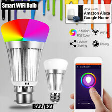 B22 Wireless WiFi RC Smart Bulb Lamp Light RGB LED For Echo Alexa Google Home