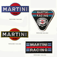 MARTINI RACING Patch Set - 4 x Embroidered Iron-On Race Patches, Excellent