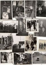 Lot of 15 Smaller Size pre 1940 Vintage Antique Black White Photos European